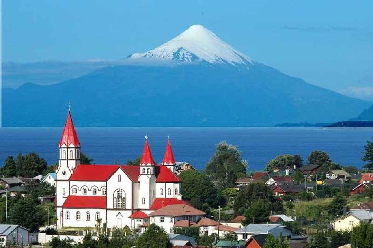Puerto Varas on the Lake Llanquihue, where the German influence is very visible. Southern Chile