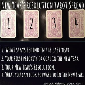 New Year's Resolution Tarot Spread.