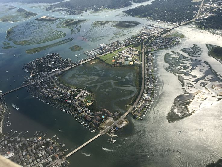 Harbor Island on Wrightsville Beach is even more spectacular from the air. Visit our shop for keepsakes featuring this stunning image!