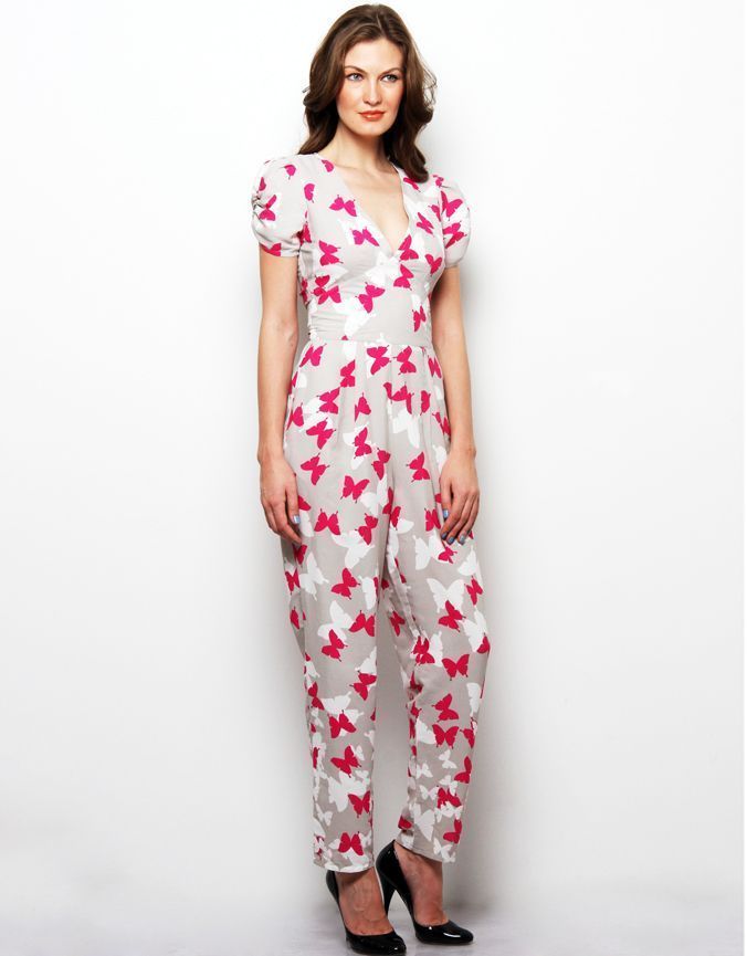 #Printed #Jumpsuit : Quirky detailing and couture like #finishes define the XNY brand and this Iris-print silk jumpsuit is no exception. Perfect for evening cocktails . This #jumpsuit epitomizes cosmopolitan cool.