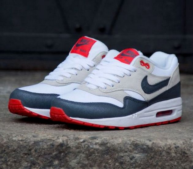 info for a3223 36dc4 ... Nike WMNS Air Max 1 Essential – White Grey – Red ...