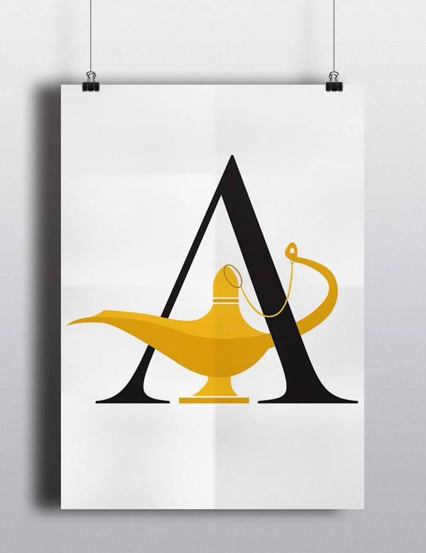 Clever Alphabet Posters Incorporates Elements Of Famous Fairytales Into Letters - DesignTAXI.com