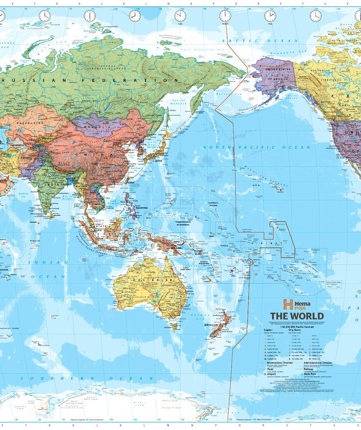 world hema political pacific 1010 x 650mm large on laminated wall maps id=66560