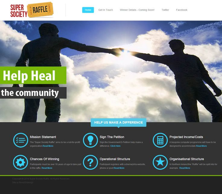 Super Society Raffle - three60design Banbridge Northern Ireland - Web Design