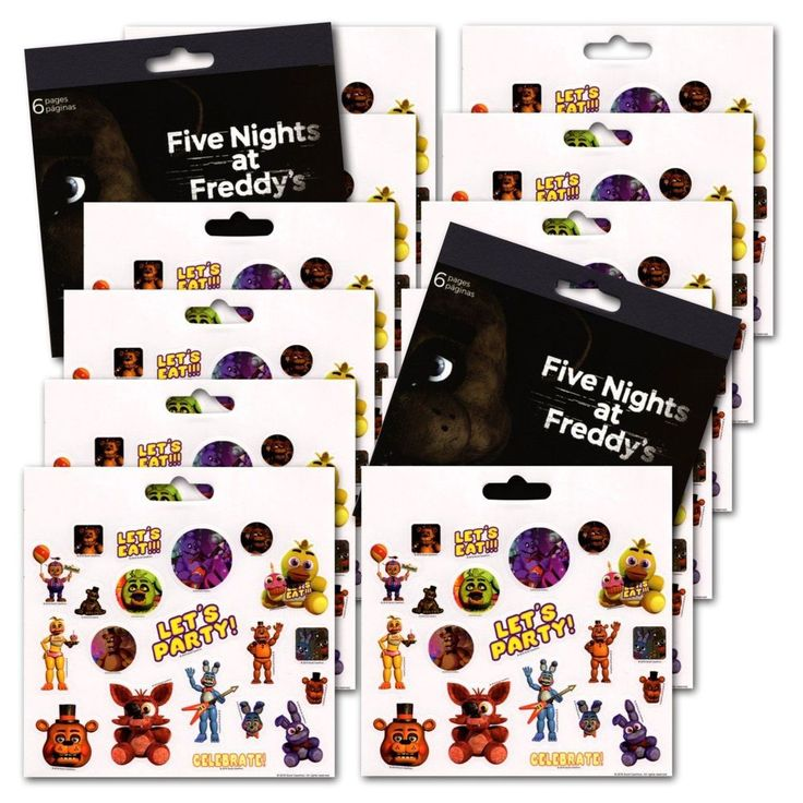 Five Nights At Freddy'S Party Favors Reward Charts Motivational Stickers #FiveNightsAt
