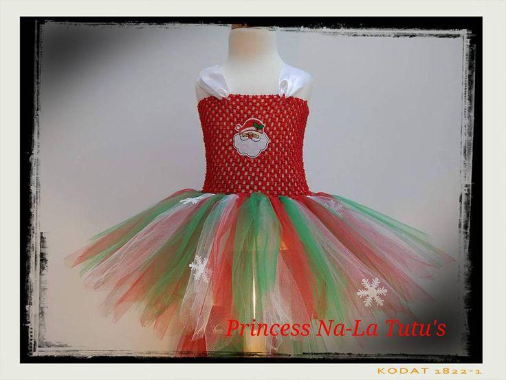 Santa Tutu - Christmas Dress - Snowflakes dress - Christmas Princess Dress - Xmas Party Tutu - Red, Green and White Dress - Christmas outfit by PrincessNaLatutus on Etsy