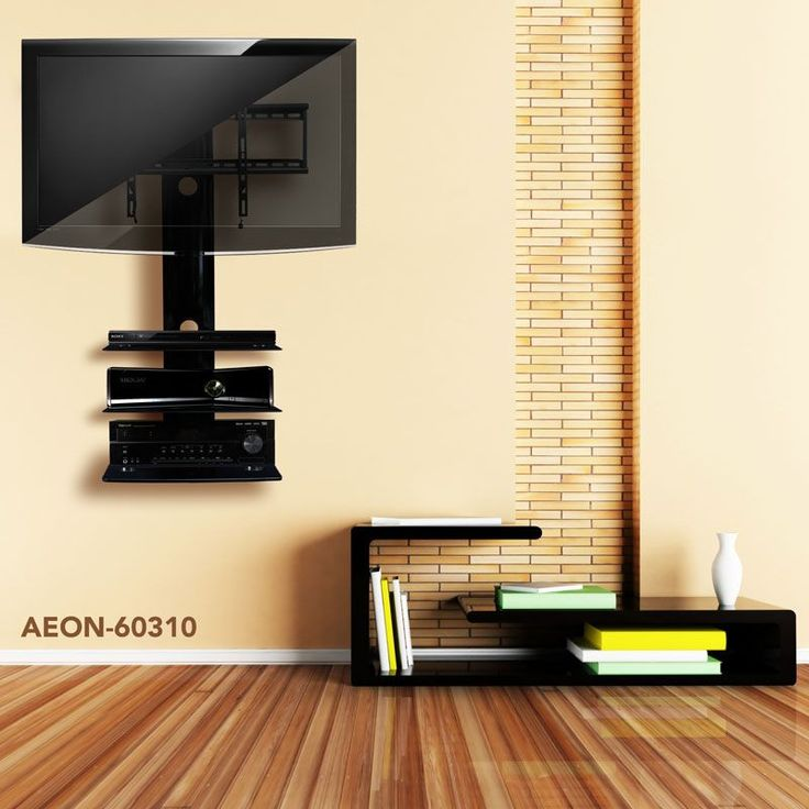 wall mounting your tv | TV Wall Mount With Shelf and TV Stand With Mount