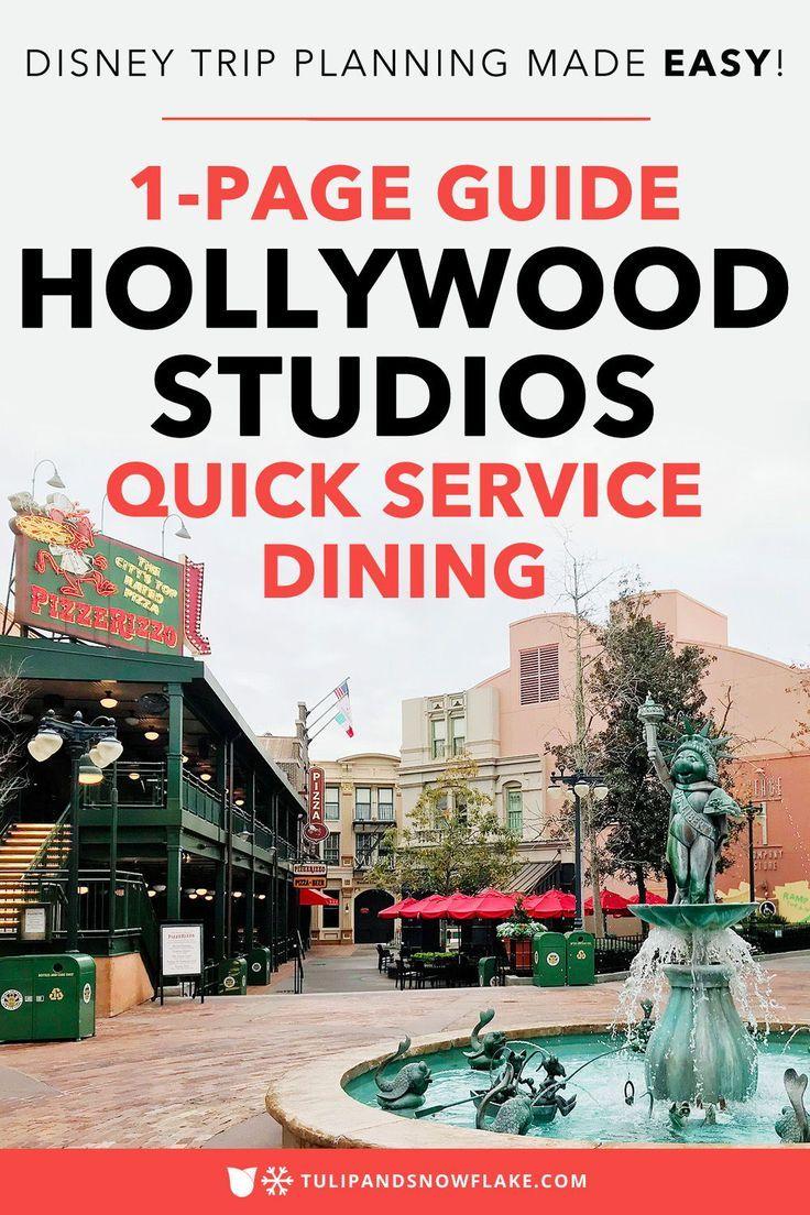 Hollywood Studios Quick Service Restaurants