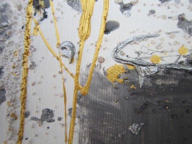 (¯`'•.ASTRATTO.•'´¯) quadro moderno 40X80 cm - con certificato di autenticità