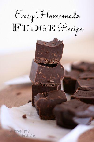 Easy Homemade Fudge | Recipe | Homemade Fudge, Fudge Recipes and Fudge