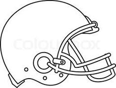 football helmet template - Google Search