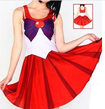 10 Colors Anime Sailor Moon Cosplay Sexy Costume Plus Size XL Halloween Costumes Gift For Women Fantasia Lolita Costumes W00425