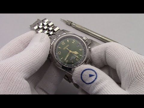 (215) Seiko Alpinist SARB017 - New Strapcode Watch Bracelet For Seiko SARB017 - YouTube