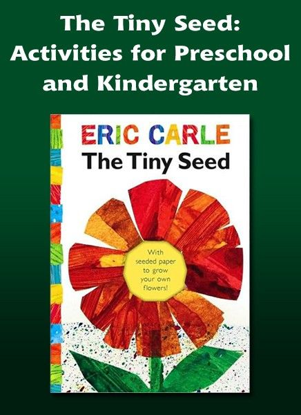 """Reading, writing, and science activities for """"The Tiny Seed"""" - part of a series of lesson plans for Pre-K and Kindergarten."""