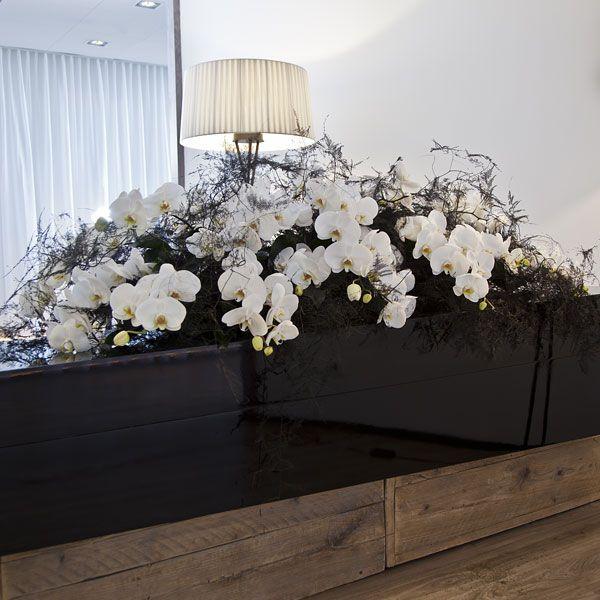 Rouwarrangement Special Contrast. Bijzondere rouwarrangementen in verschillende vormen of met een symbolische betekenis, bij Afscheid met Bloemen vindt u het allemaal. In de rouwarrangementen gebruiken wij grote, bijzondere bloemen, altijd uit het seizoen. Gemaakt door Afscheid met Bloemen.