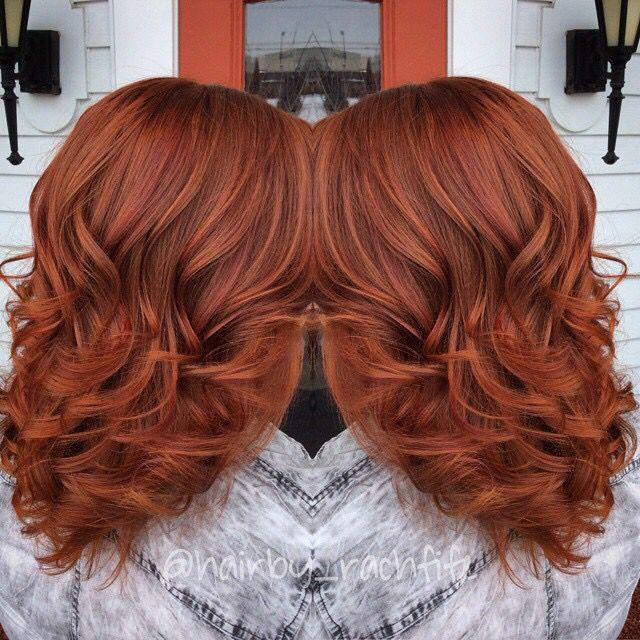 Gorgeous and dimensional red copper created using redken chromatics! Hair by Rachel fife at Sara Fraraccio salon
