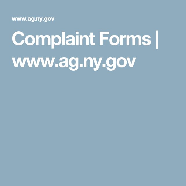 Complaint Forms | www.ag.ny.gov