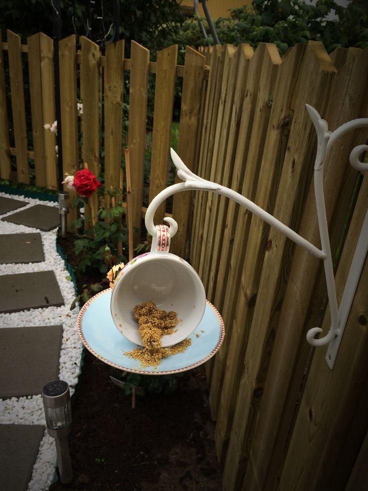 Bird Feeder, made by coffee cup. Kreativt fuglebrett