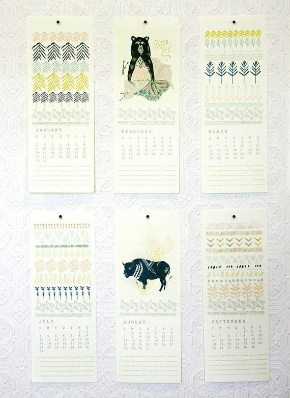 i dig the format of this calender