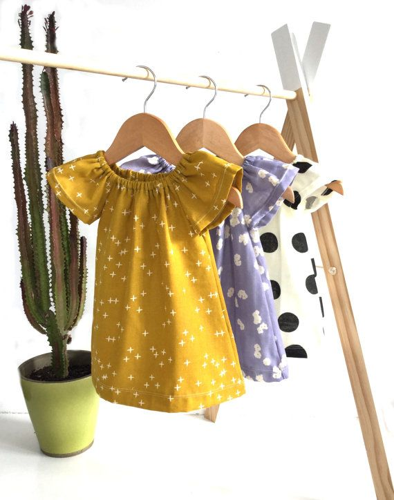 Girls dress  Baby girl / toddler girl dress made of gorgeously soft and breathable double gauze. perfect for summer. Elasticised neckline. LAST ONE 12-18months RTS