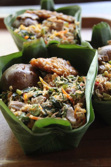 """nasi urap"" traditional food from Javanese, Indonesia"