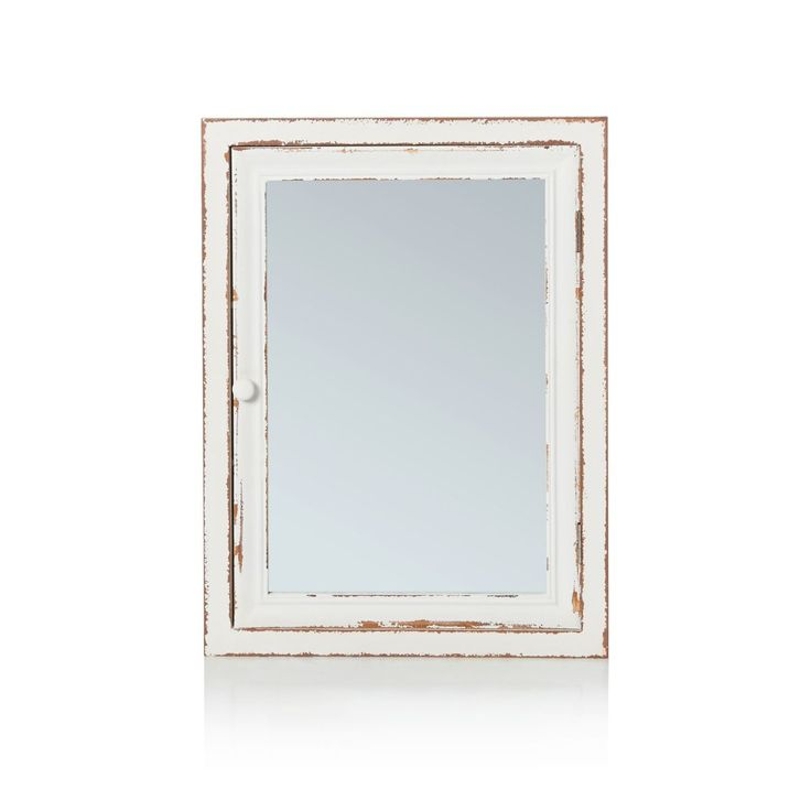 Spiegelschrank, Vintage-Look, Tannenholz, ca. L80 x B15 x H60 cm