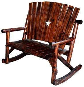 rustic star bench