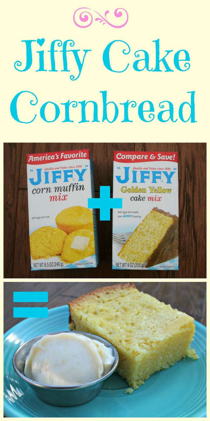Growing up, my best friends mom would make this delicious cake-like corn bread, which I call Jiffy Cake Cornbread.