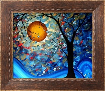 Blue Essence Stretched Canvas Print by Megan Aroon Duncanson at Art.com
