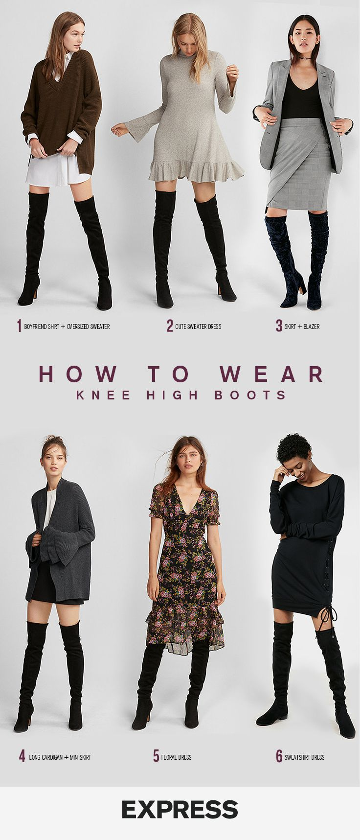 bf5e30131817 6 chic ways to wear over the knee boots this winter. | Fall Fashion ...