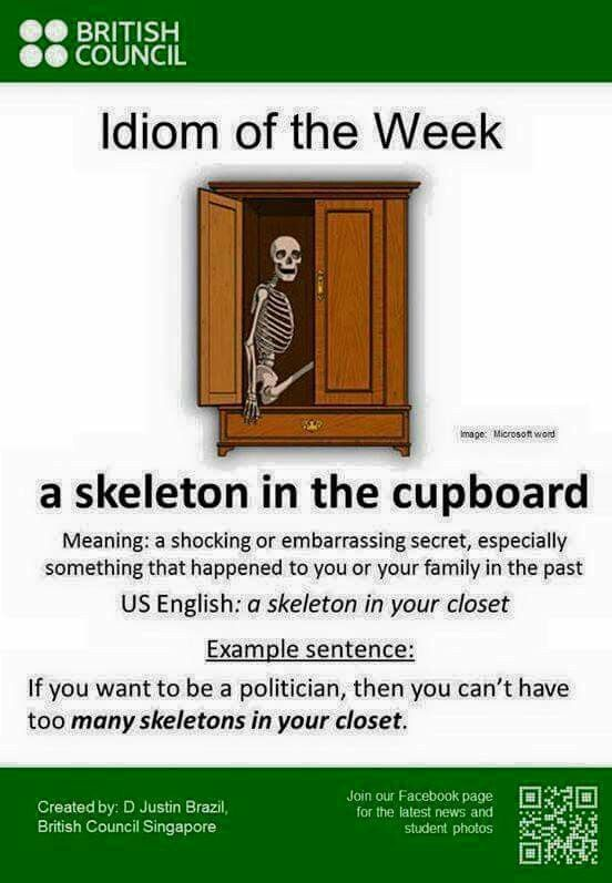IDIOM OF THE WEEK.