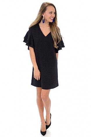 Double Trouble Dress, Black :: NEW ARRIVALS :: The Blue Door Boutique