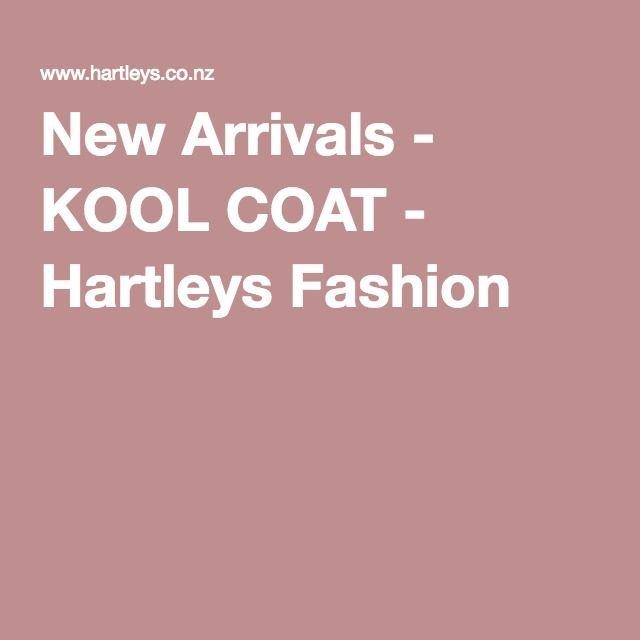 New Arrivals - KOOL COAT - Hartleys Fashion
