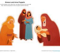 anna and simeon coloring page - simeon and anna puppets teaching the bible pinterest