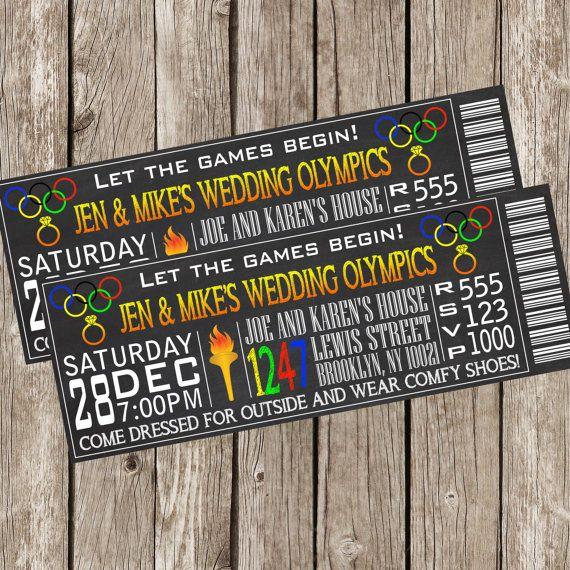 Wedding Olympics Bridal Shower Invitation by LittleMsShutterbug