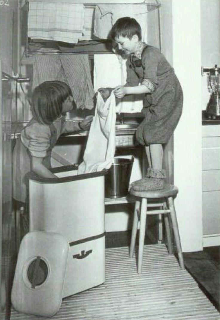Evalet vaskemaskin 1951