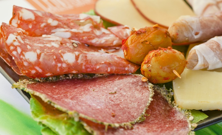 Enjoy a glass of wine at a beautiful setting paired with an antipasto!