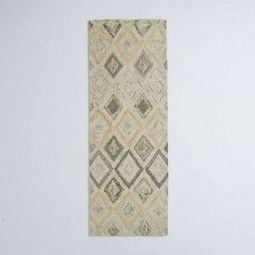 Prism Wool Rug Runner - Soot