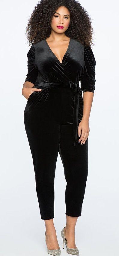 9a37d3f90ad Plus Size Velvet Jumpsuit  plussize  velvet  party  holiday