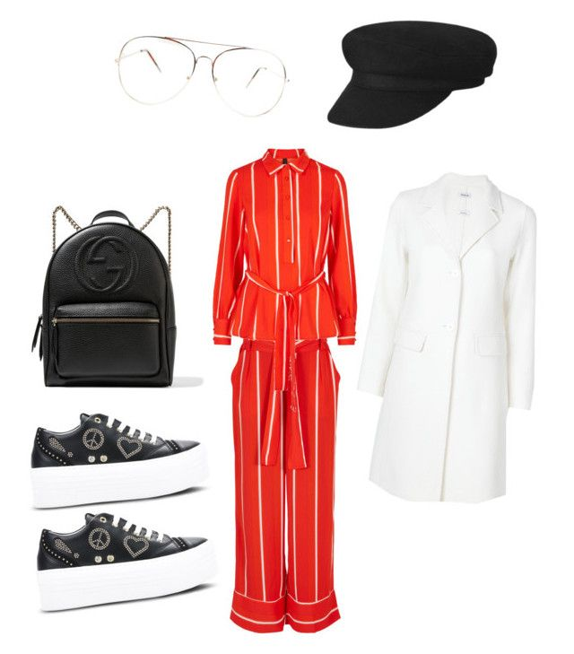"""""""Wednesday"""" by madisonkiss on Polyvore featuring Love Moschino, P.A.R.O.S.H. and Gucci"""