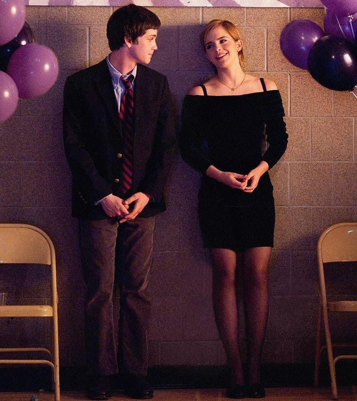 The Perks of Being a Wallflower - Logan Lerman, Emma Watson. Loved her dress.