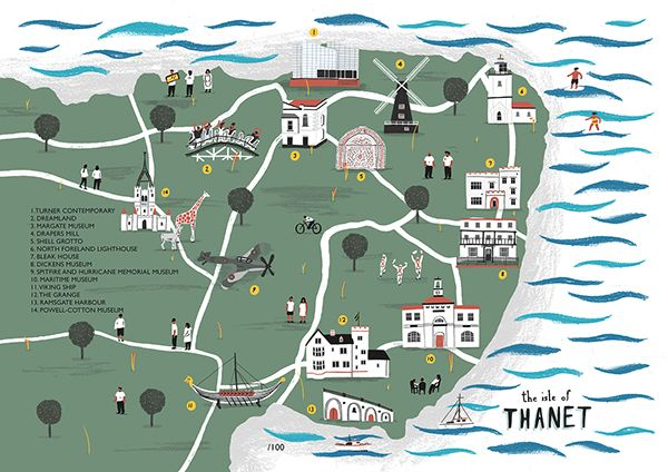 Thanet Map by Alex Foster