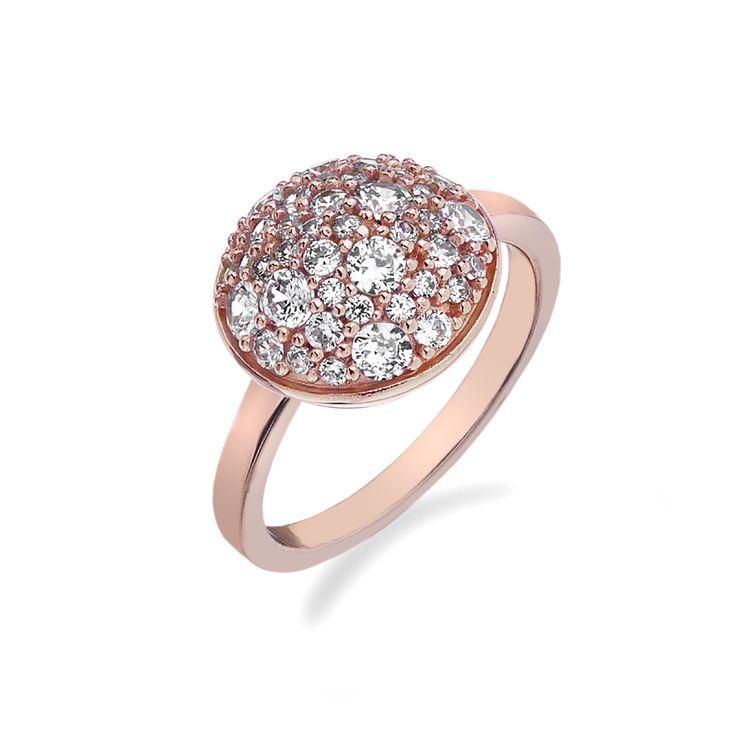 Stříbrný prsten Hot Diamonds Emozioni Bouquet Rose Gold