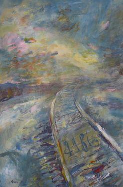 "Saatchi Art Artist Manlio Rondoni; Painting, ""tren a la nubes 2010"" #art"
