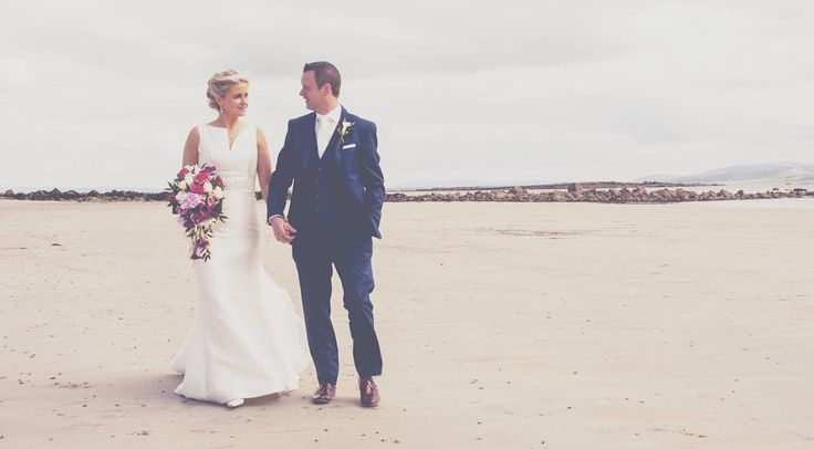 Heres an old one from a wedding in spiddal lovely couple wanted to stop off on silver strand for some of their photos. One of the really nice bits about shooting like this is that its the first time the couple have together in any sort of privacy all day so it can be a great time to just step back and let them do their own thing  #Weddingphotography #wedding #bride #bridegroom #irishwedding #irishbeach #spiddal #weddingphotos #ireland #irish