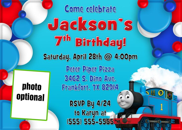 474 best birthday invitations template images on pinterest train birthday invitations printable birthday invitation templatesthomas pronofoot35fo Gallery