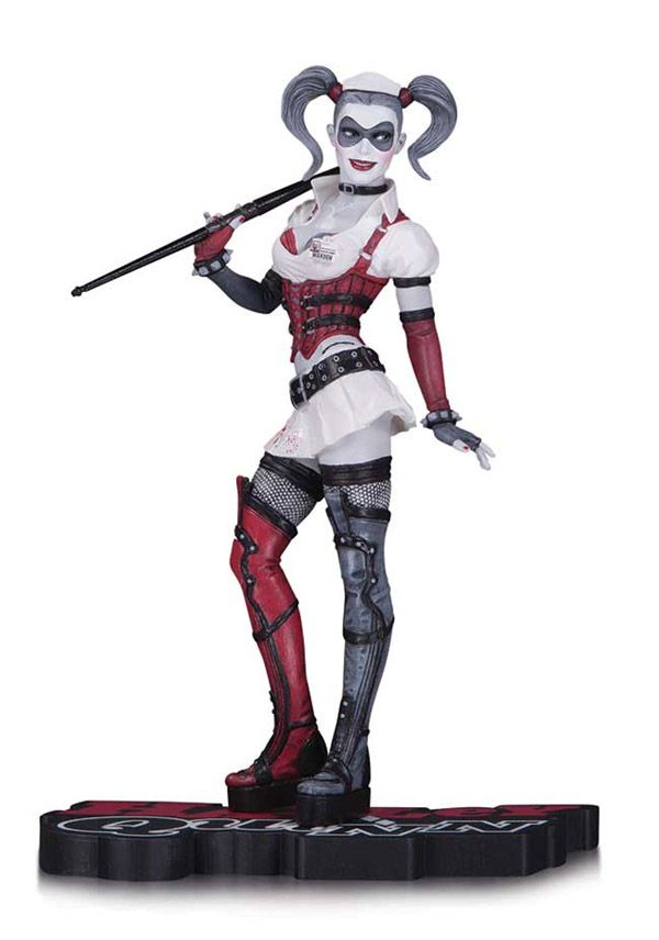 BLOG DOS BRINQUEDOS: Harley Quinn Red Black and White Statue