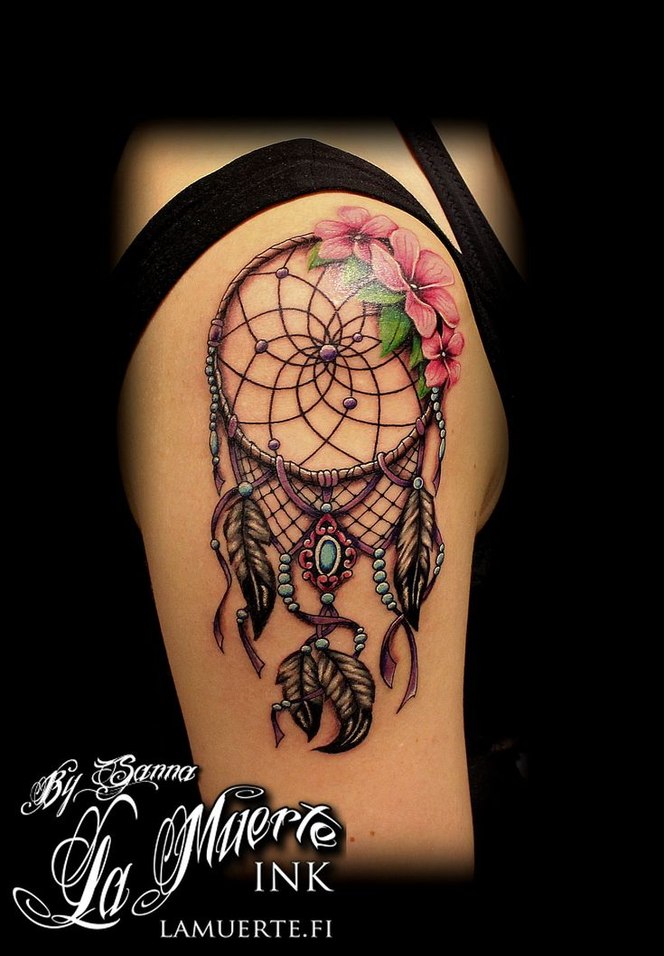 Dreamcatcher t... Dreamcatcher Tattoos On Shoulder ...