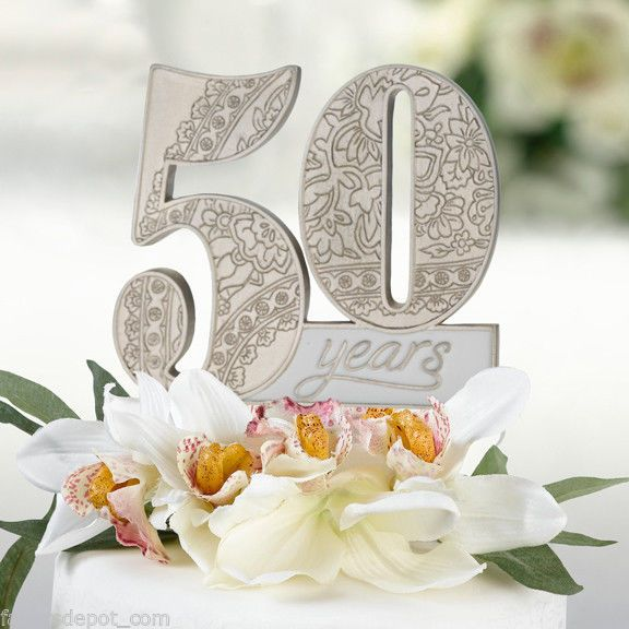 50th Anniversary Cake Pick cake top cake topper