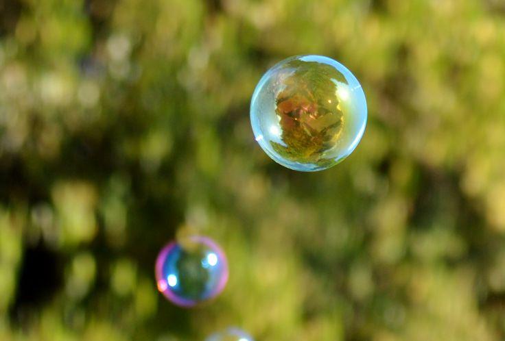 Bubble reflections. An original photograph by Lynda Moore (lynda_c_moore@msn.com)